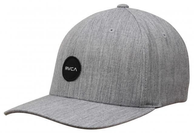 RVCA Mini Motors Flex Fit Hat - Heather Grey