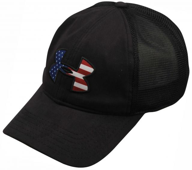 Under Armour Big Flag Logo Mesh Hat - Black   White For Sale at  Surfboards.com (1819210) 2aa2dbc84a6