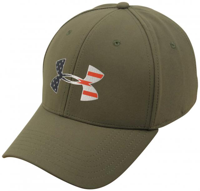 Under Armour Freedom Big Flag Logo Hat - Marine OD Green / Silver