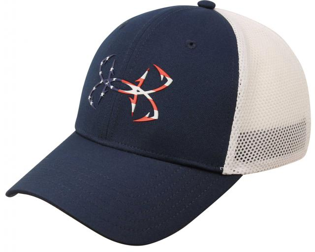 Under Armour Fish Hook Hat - Moroccan Blue   White   American Flag For Sale  at Surfboards.com (1819235) feed78d150e