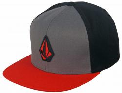 Volcom Stone Color Snap Hat - Drip Red