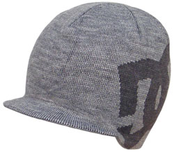DC Big Star Visor Beanie - Grey / Dark Grey