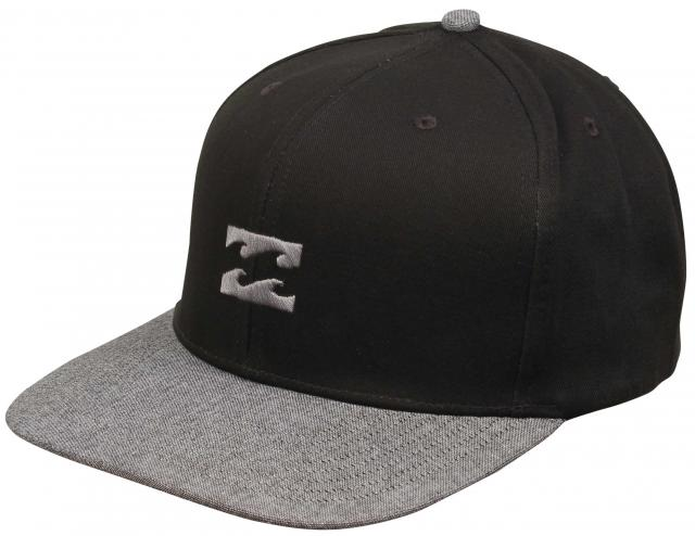 Billabong All Day Snapback Hat - Black / Grey