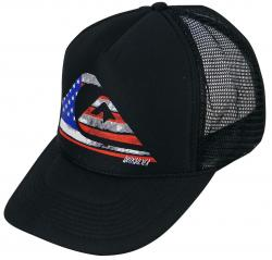 Quiksilver Stars N Stripes Trucker Hat - Black