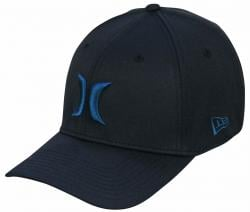 Hurley One and Only New Era Hat - Black / Fuel Blue