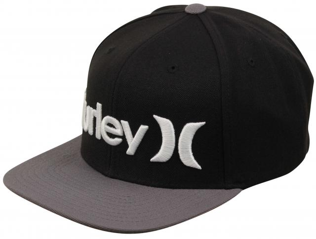 Hurley One and Only Snapback Hat - Dark Grey