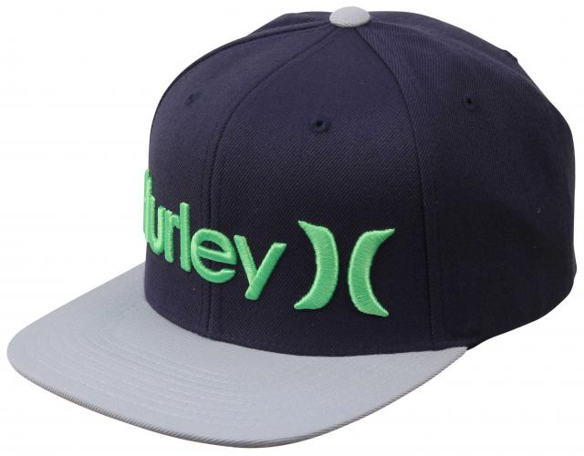 Hurley One and Only Snapback Hat - Electro Green ...