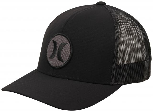 Hurley Black Textures Patch Hat - Black / Black Ripstop