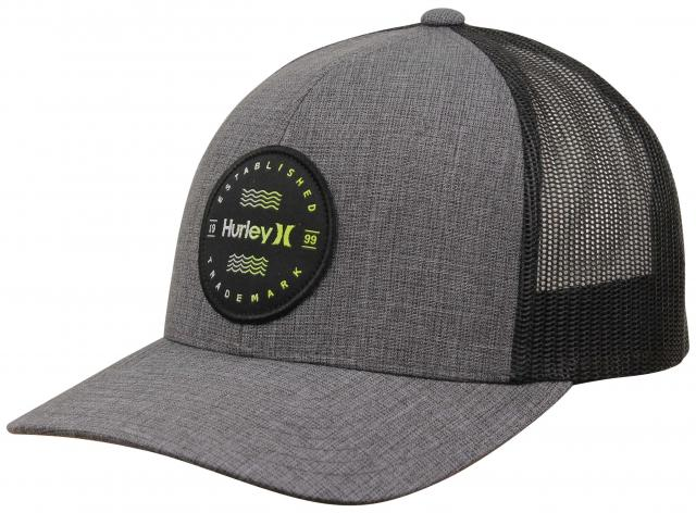 61a8ed2b6625d Hurley Trademark Trucker Hat - Black For Sale at Surfboards.com (1850944)