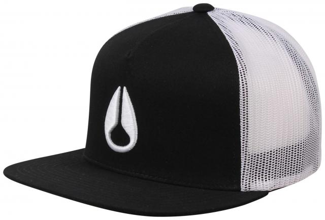 Nixon Deep Down Trucker Hat - Black / White / Black