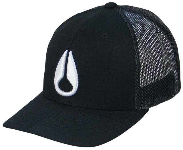 Nixon Iconed Trucker Hat - Black / White