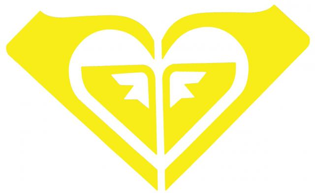 Roxy Logo Sticker - Yellow