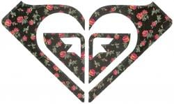 Roxy Logo Sticker - Roses