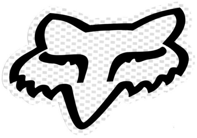 Fox Foxhead Logo Sticker - White