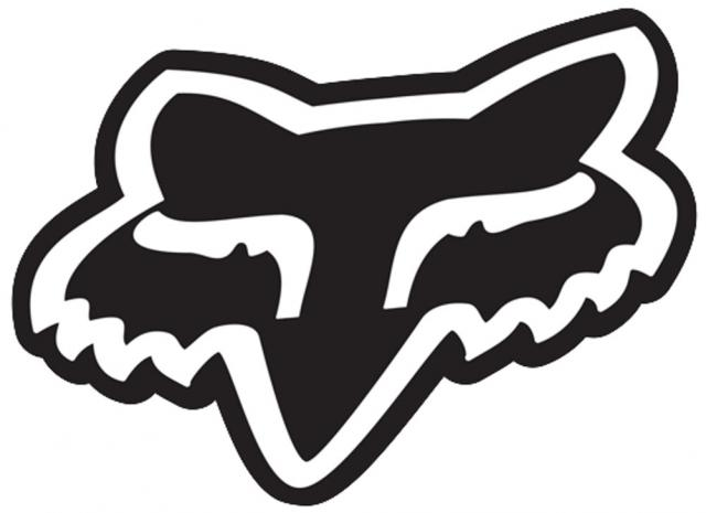 Fox Foxhead Logo Sticker - Black
