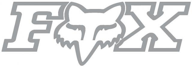 Fox FheadX TDC Logo Sticker - Silver