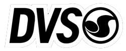DVS Logo Sticker - White