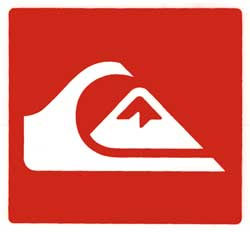 quiksilver mountain wave logo sticker classic red for