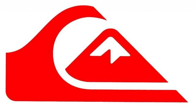 quiksilver mountain wave logo sticker red for sale at