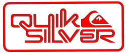 Quiksilver Corpo Sticker - Red