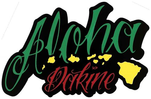 DaKine Aloha Island Sticker - Green