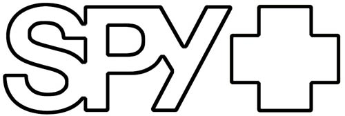 Spy Logo Sticker - White