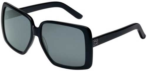 Roxy Hollypop Sunglasses - Shiny Black / Grey