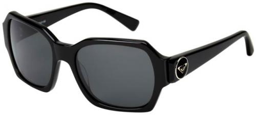 Roxy Honey Sunglasses - Shiny Black / Grey