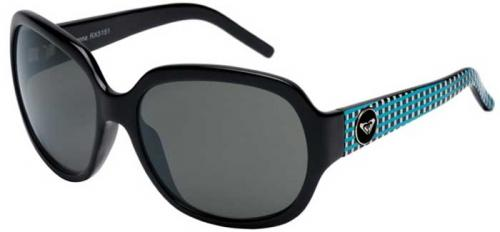 Roxy Sienna Sunglasses - Shiny Art Black / Grey