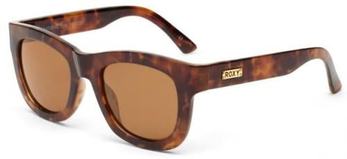 Roxy Satisfaction Sunglasses - Dark Tortoise / Brown