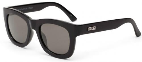 Roxy Satisfaction Sunglasses - Shiny Black / Grey