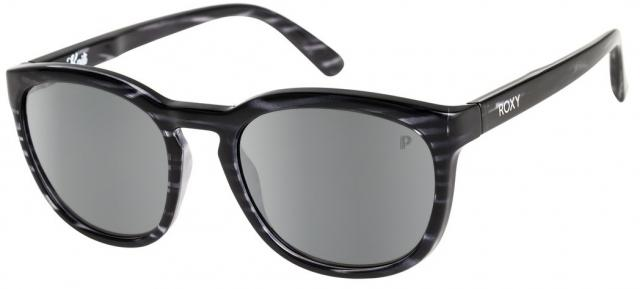 Roxy Kaili Sunglasses - Shiny Havana Black / Flash Silver Polarized