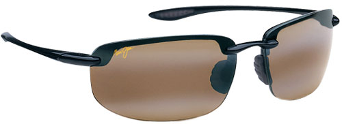 Maui Jim Ho'okipa Sunglasses - Gloss Black / HCL Bronze