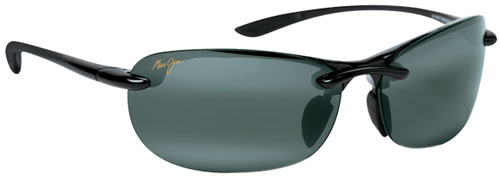 Maui Jim Hanalei Sunglasses - Gloss Black / Neutral Grey