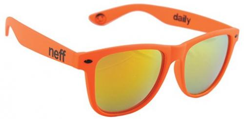 Neff Daily Sunglasses - Orange Soft Touch / Gold