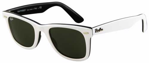 Ray-Ban Wayfarer Sunglasses - White / G-15 XLT