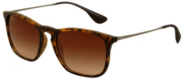 Ray-Ban Chris Sunglasses - Rubberized Havana / Brown Gradient