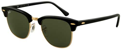 Ray-Ban Clubmaster Sunglasses - Ebony Arista / G-15 XLT