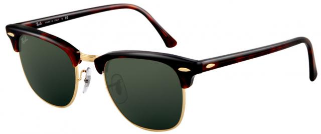 Ray-Ban Clubmaster Sunglasses - Tortoise Arista / G-15 XLT