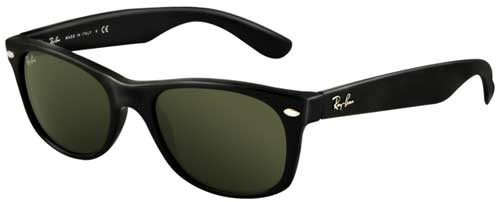 Ray-Ban New Wayfarer Sunglasses - Black / G-15 XLT