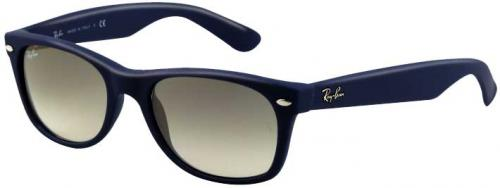 Ray-Ban New Wayfarer Sunglasses - Light Blue Rubber / Crystal Grey Gradient