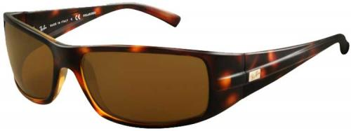 Ray-Ban 4057 Sunglasses - Tortoise / Brown Polarized