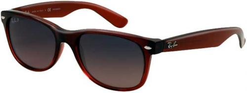 Ray-Ban New Wayfarer Sunglasses - Brown Pink / Crystal Blue Polarized