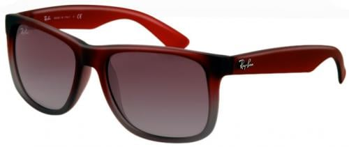 Ray Ban Justin Sunglasses Red Grey Gradient Grey Gradient