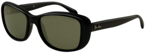 Ray-Ban 4174 Sunglasses - Shiny Black / Crystal Green