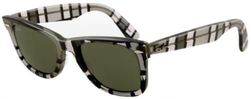 Ray-Ban Wayfarer Sunglasses - Grey Dark and Light / G-15 XLT