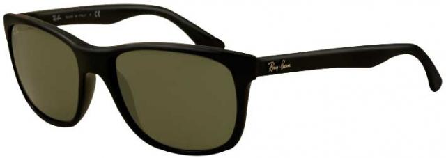 Ray-Ban 4181 Sunglasses - Black / Crystal Green