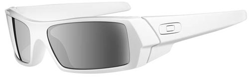 Oakley GasCan Sunglasses - Polished White / Black Iridium