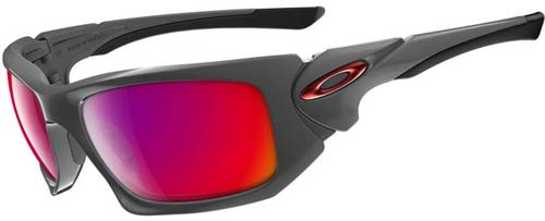 Oakley Scalpel Sunglasses - Dark Grey / Positive Red Iridium