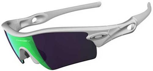 Oakley Radar Path Sunglasses - Matte White / Jade Iridium